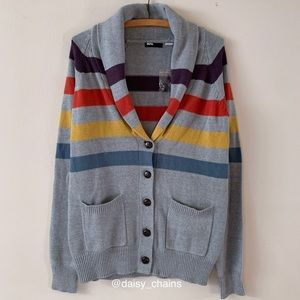 NWOT BDG Striped Shawl Collar Cardigan